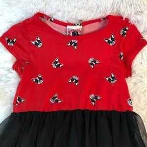 Dreamgirl Dresses - Girls French Bulldog Themed Dress in Size 5-6